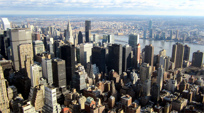 Photo of New York City where Curzon PR opened a new office.